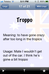 Aussie Lingo Audio Companion - Troppo