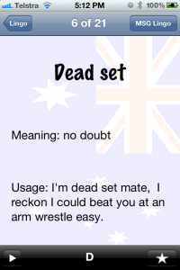 Aussie Lingo Audio Companion - Dead Set