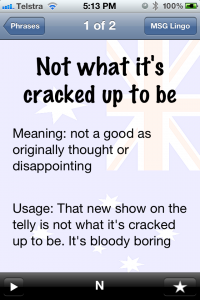 Aussie Lingo Audio Companion - Not what is cracked up to be